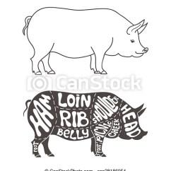 Pork Butcher Cuts Diagram Maytag Dishwasher Wiring Hand Drawn Scheme Csp28186954