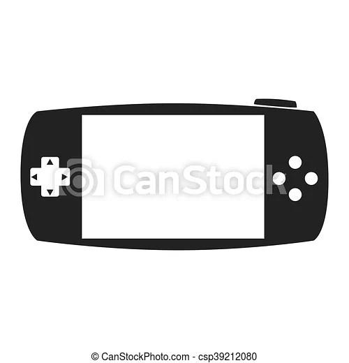 Portable game device psp icon vector graphic. Portable