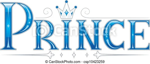 Text illustration featuring the word prince