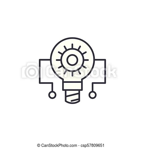 Principle circuit linear icon concept. principle circuit