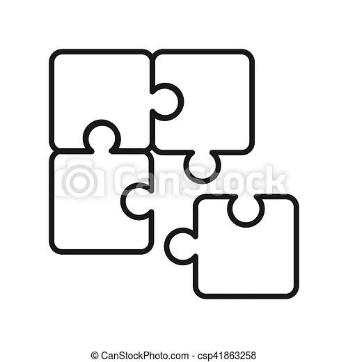 Problem solving illustration design clipart vector