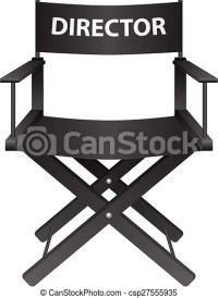 Producer chair. Producer chair on a white background ...