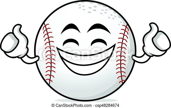 proud face baseball cartoon