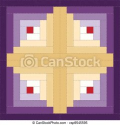 quilt pattern clipart cabin log barn block patterns vector patchwork quilts illustration stitched raising traditional variation clip eps8 compatible gograph