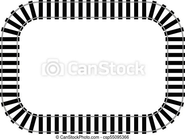 Railroad track vector eps 10