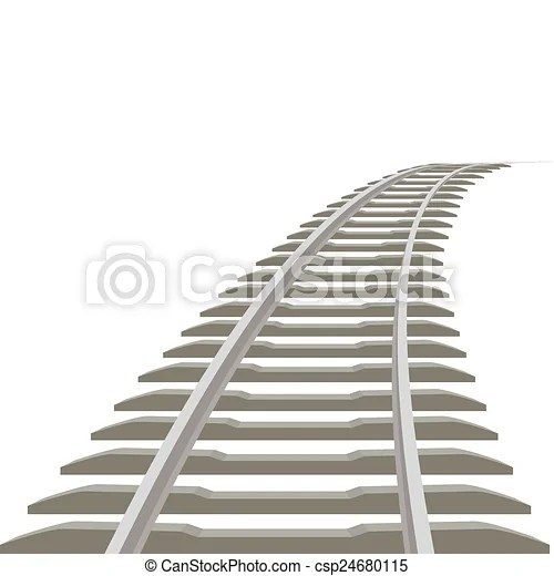 Railway line receding into the distance illustration on