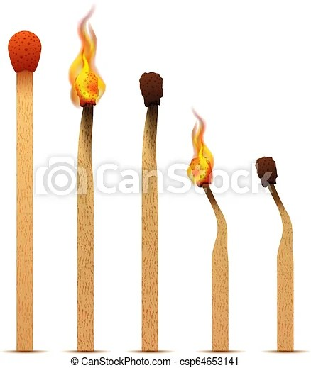 realistic matches with fire