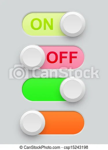 On Off Switch Circle Line : switch, circle, Realistic, Switch, Illustration, Resolution., CanStock