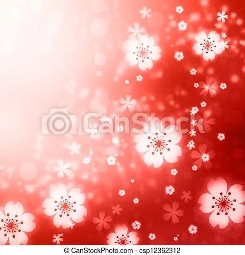 red cherry blossoms background
