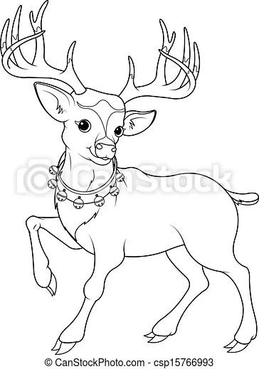reindeer rudolf coloring page. Coloring page of cartoon
