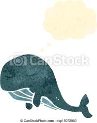 whale cartoon retro clip