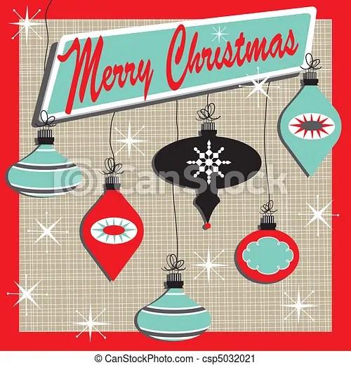 retro merry christmas. inspired