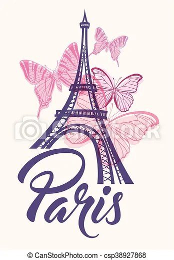 romantic background with eiffel
