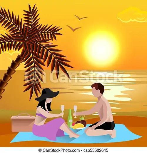 romantic beach date background
