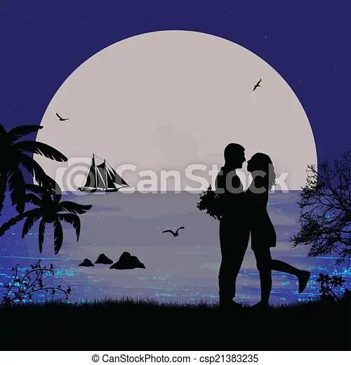 romantic couple beach