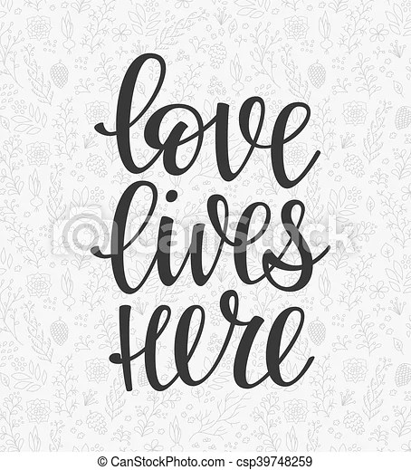 Download Romantic love lettering typography. Romantic love ...