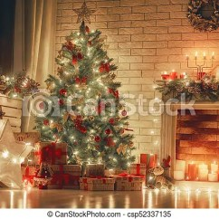 Beautiful Living Rooms At Christmas Room Designs With Hardwood Floors Decorated For Merry And Happy New Year A Csp52337135
