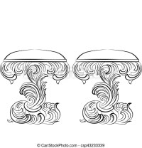 Royal Baroque Vector Classic chair furniture set with ...