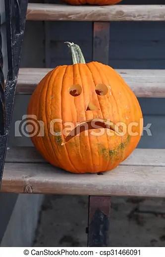 sad pumpkin face a