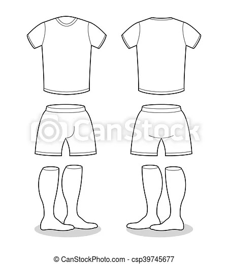 Sample for sports clothing soccer. t-shirt, shorts and