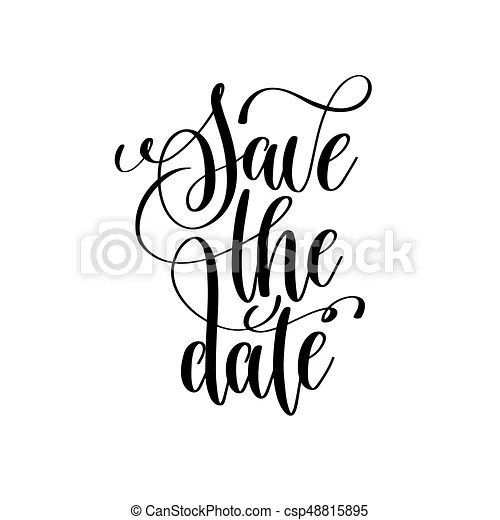 save the date black