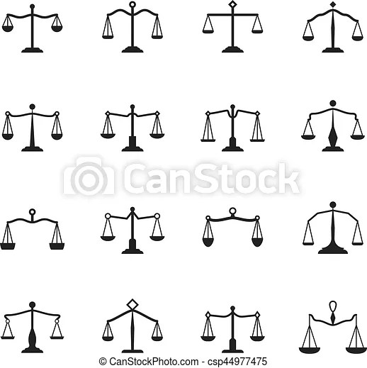 scales icons vector balance