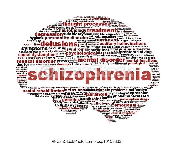 Schizophrenia symbol isolated on white background. mental disorder concept.