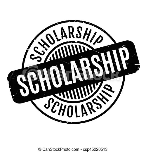 Scholarship rubber stamp. grunge design with dust