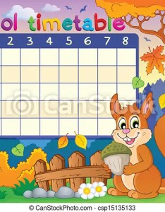 also school timetable thematic image eps vector illustration rh canstockphoto