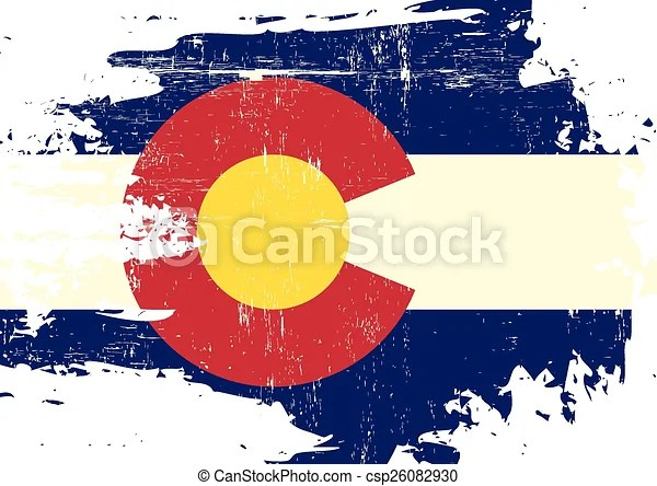 Scratched Colorado Flag A Flag Of Colorado With A Grunge