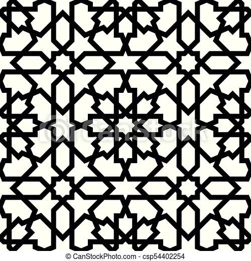 seamless arabic geometric ornament
