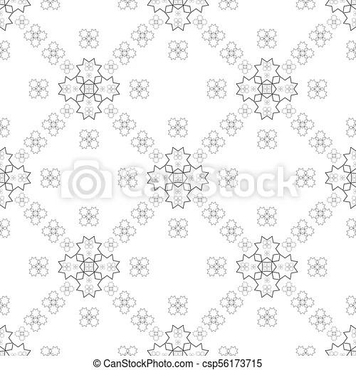 Seamless geometric line pattern in arabian style, ethnic