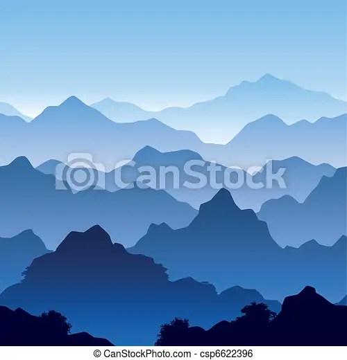 Seamless Mountain Landscape Seamless Vector Illustration