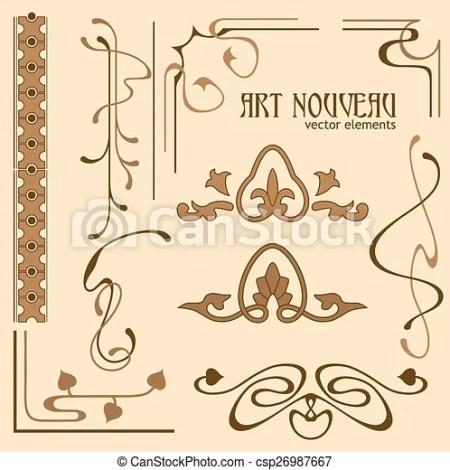 Set Of Art Nouveau Elements Csp26987667