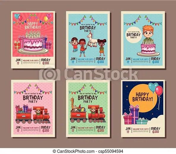32 invitation card for birthday boy