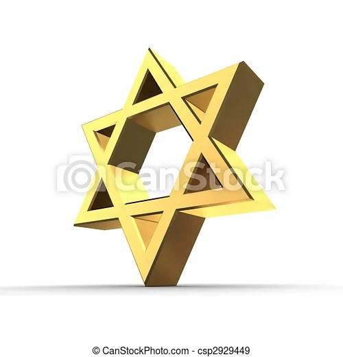 shiny golden star of david graphic