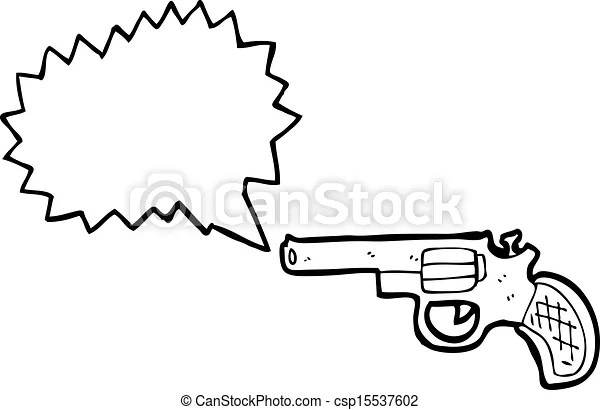 Shooting gun cartoon.
