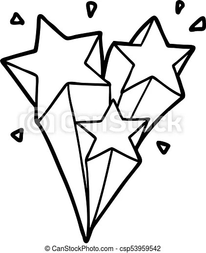 Drawn Shooting Star Drawing