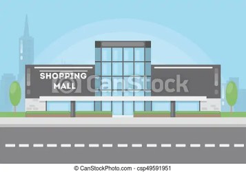 mall building shopping clipart drawing urban landscape