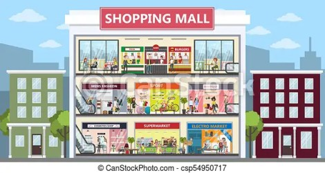 mall shopping center clothing clipart interior clip drawing vector icon graphic drawings illustration
