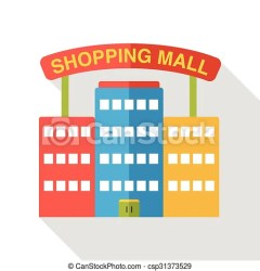 mall shopping icon flat vector clipart clip drawing graphic illustration line drawings illustrations graphics canstockphoto