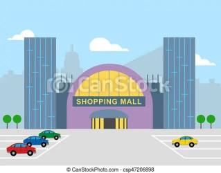 shopping mall 3d commerce retail shows illustration clipart drawings drawing clip icon