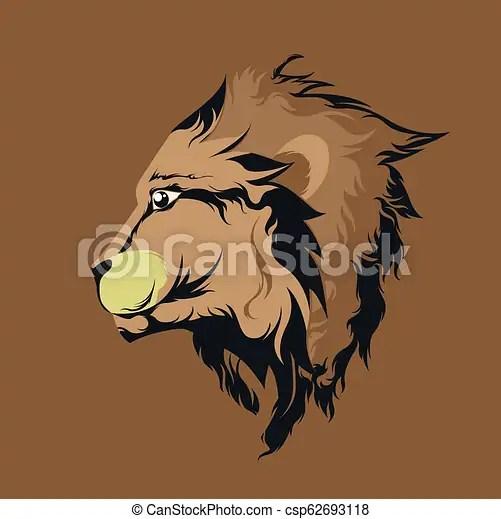 side view lion face