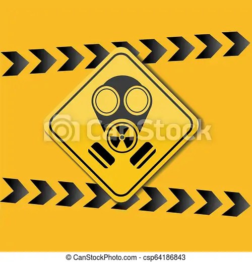 sign gas mask warning