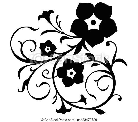 Simple flower motif. One simple flower motif.