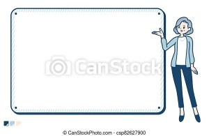 senior board woman navigation simple easy suit frame guide drawings edit icon