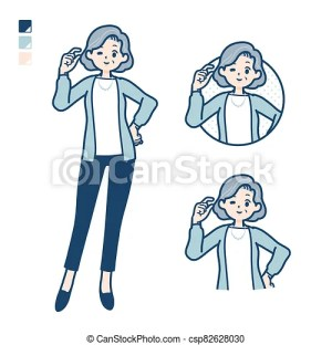 senior bit woman simple easy vector suit sign hand