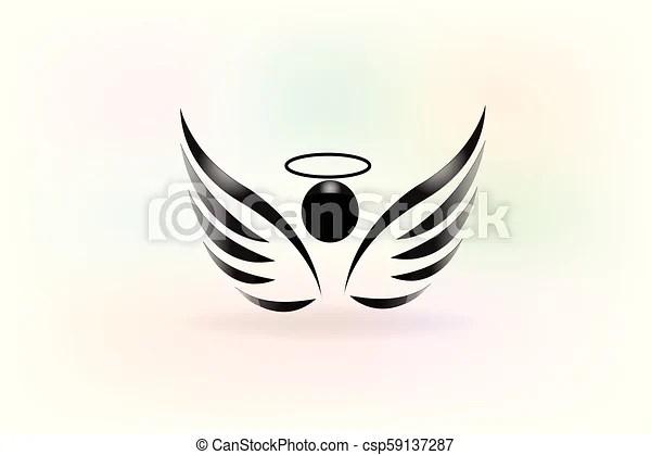 sketch of angel wings