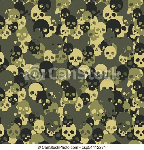 skull camo seamless pattern