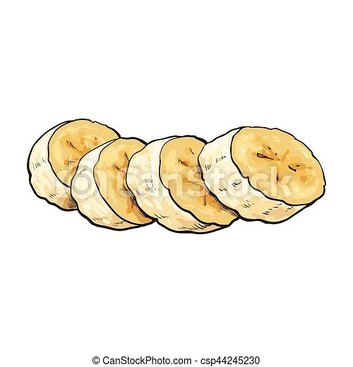 sliced chopped unpeeled ripe banana